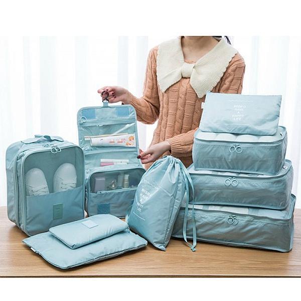 5/7/9 Pieces Waterproof Travel Organizer Waterproof Multi-function Travel Bag