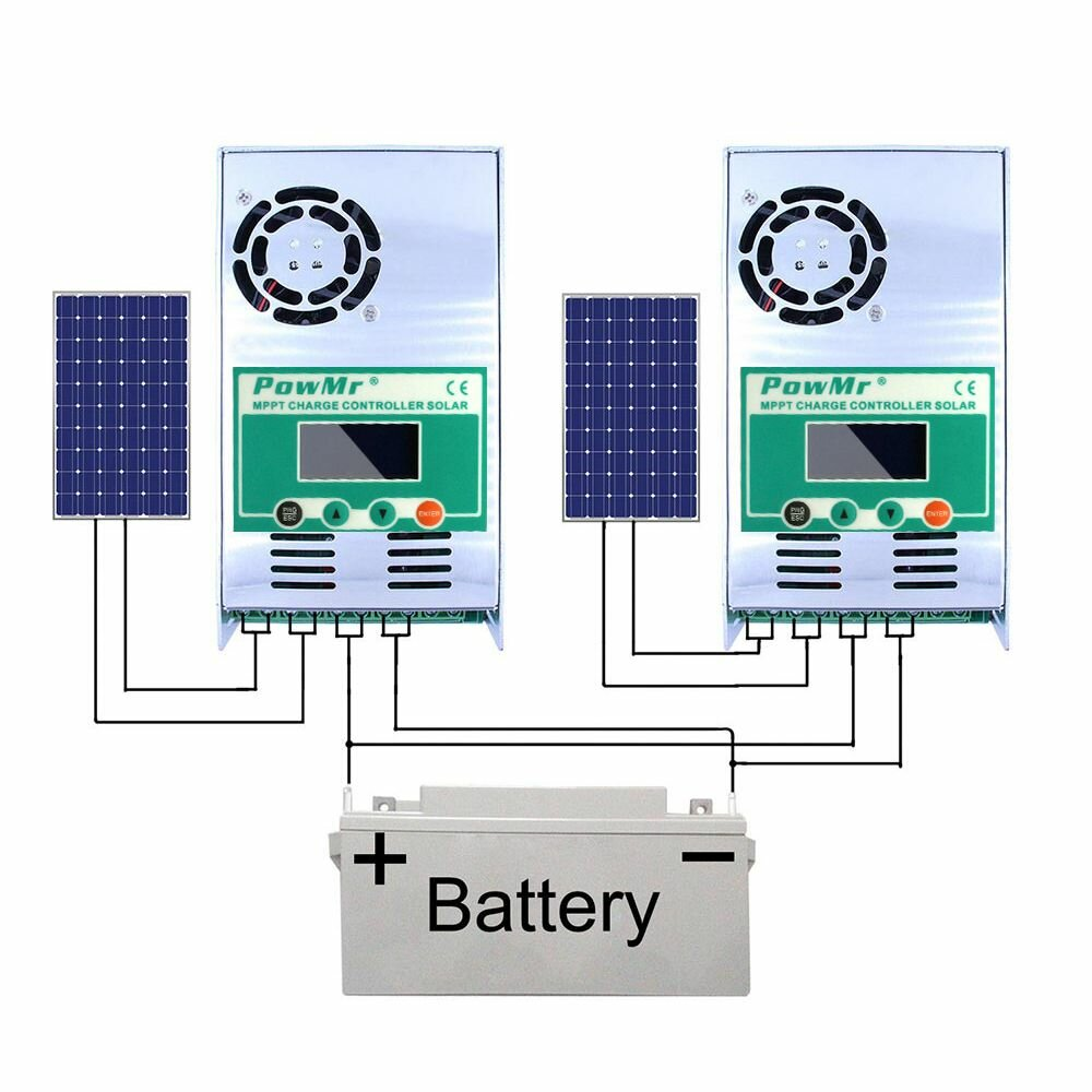 Arduino PowMr MPPT 60A Solar Charge and Discharge Controller 12V 24V 36V 48V Auto for Max PV 190VDC Lead Acid Lithium Battery фото