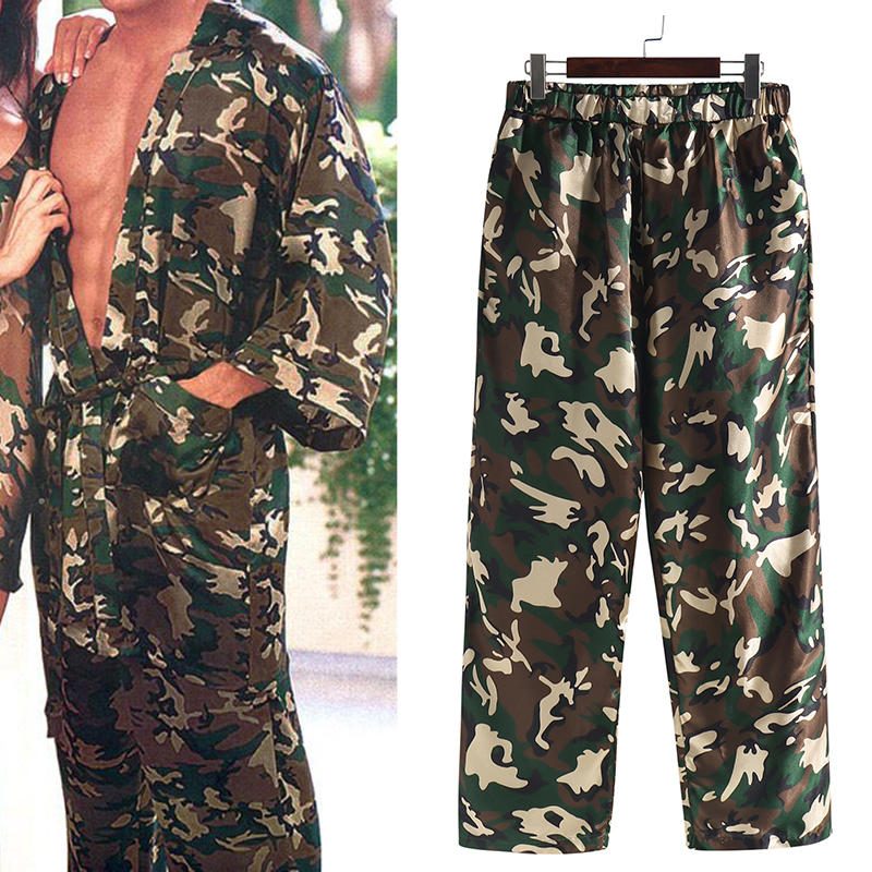 Mens Camo Pajama Pants Lounge Pants Pyjamas Nightwear Loungewear Trouser Bottoms Pants