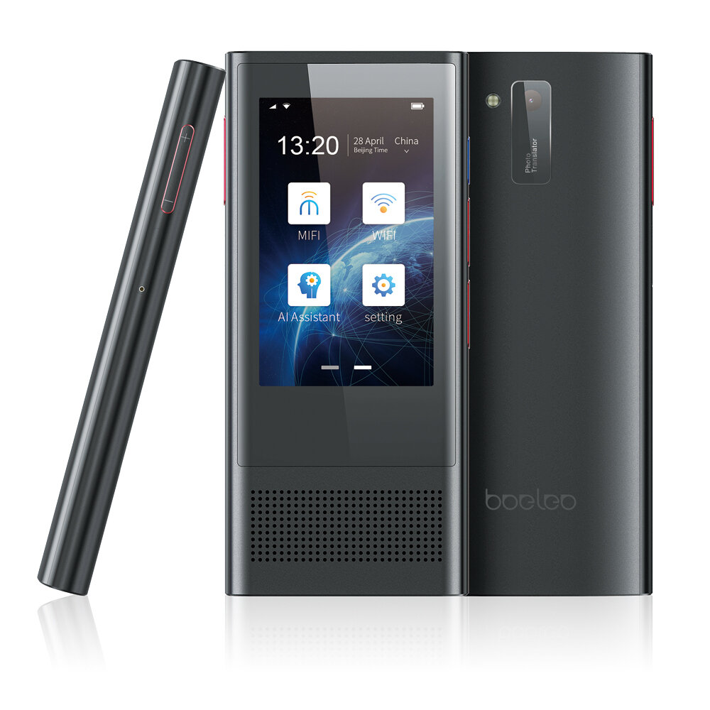 Boeleo W1 3.0 BF301 AI Translator 3.1inch Touch Screen 117 Languages Support 4G Offline Photographic Recording Translation