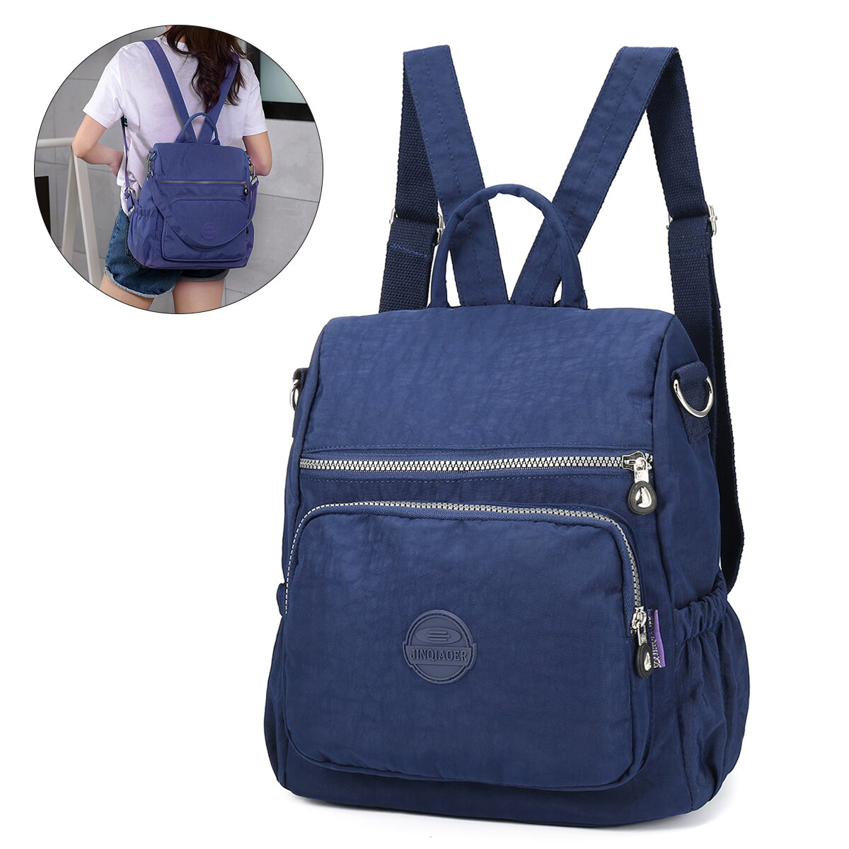 Women Multi-function Anti-Theft Waterproof Shoulder Bag Mummy Backpack Shopping Date