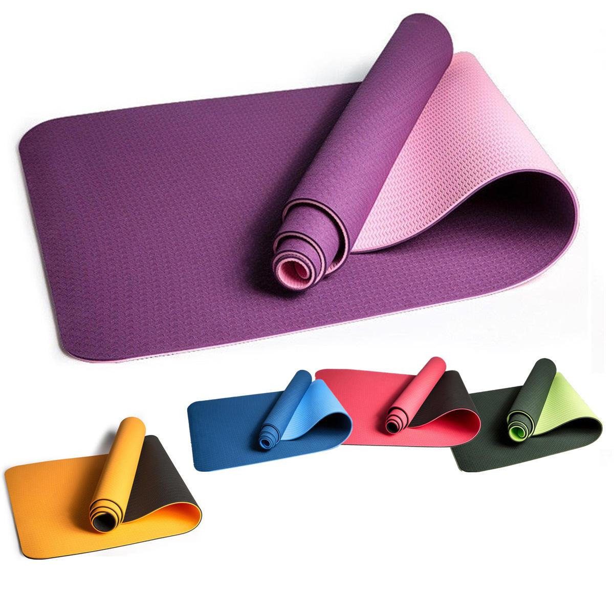 183x61x0.6cm Yoga Mat Workout Exercise Mat Gym Fitness Pilates Non-Slip Mats TPE