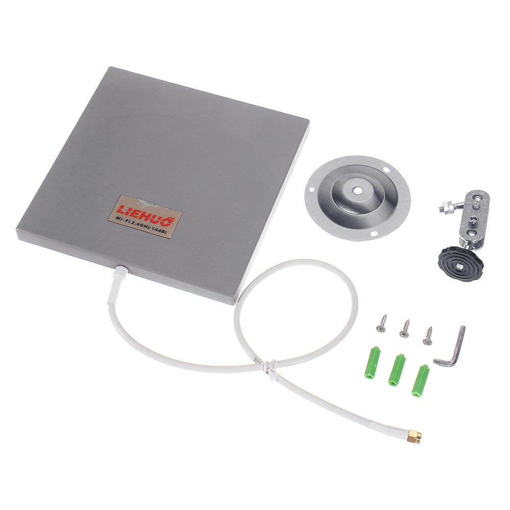 WiFi Antenna 14dBi Antenna High Gain SMA Wireless WLAN Directional Antenna with Cable 50cm, Banggood  - buy with discount