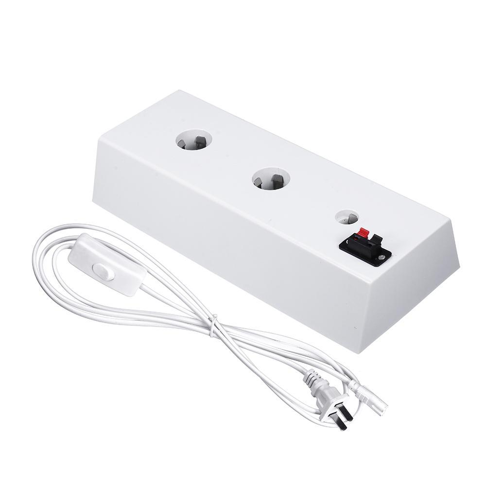AC100-220V 4A US Plug Bulb Adapter Display Light Socket 2 in 1 Aging Test Lamp Holder