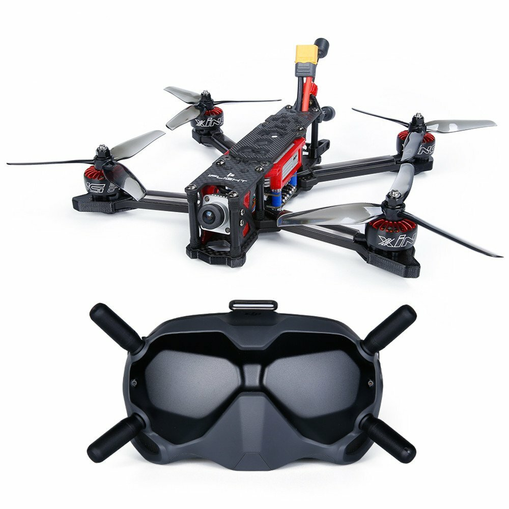 iFlight X Jointly-designed TITAN DC5 6S w/ DJI Air Unit BNF Build-in DJI Receiver FPV HD Goggles FPV Racing RC Drone
