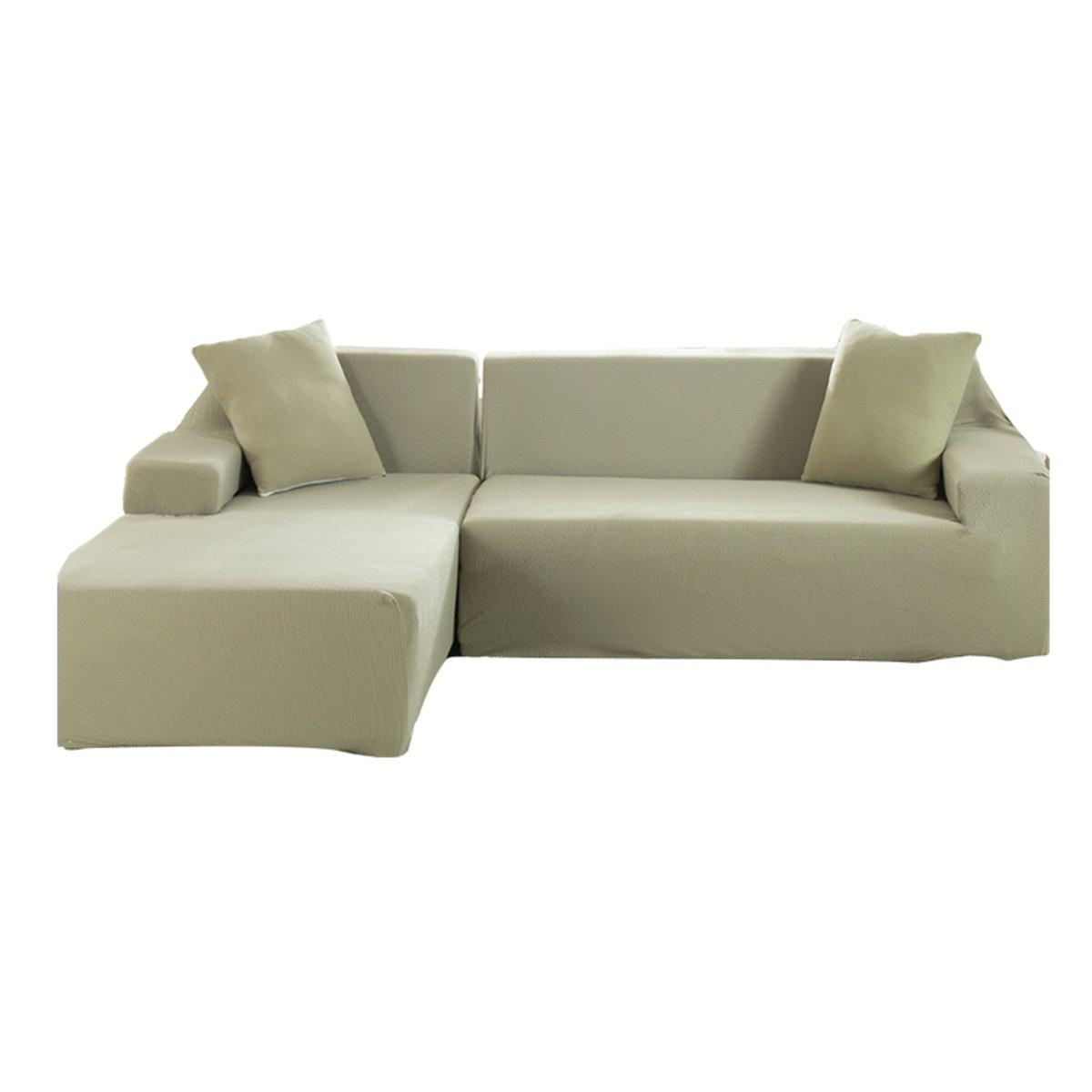 3 Seat L Shape Stretch Elastic Fabric Sofa Covers Elastic Sectional Corner Couch Slipcovers