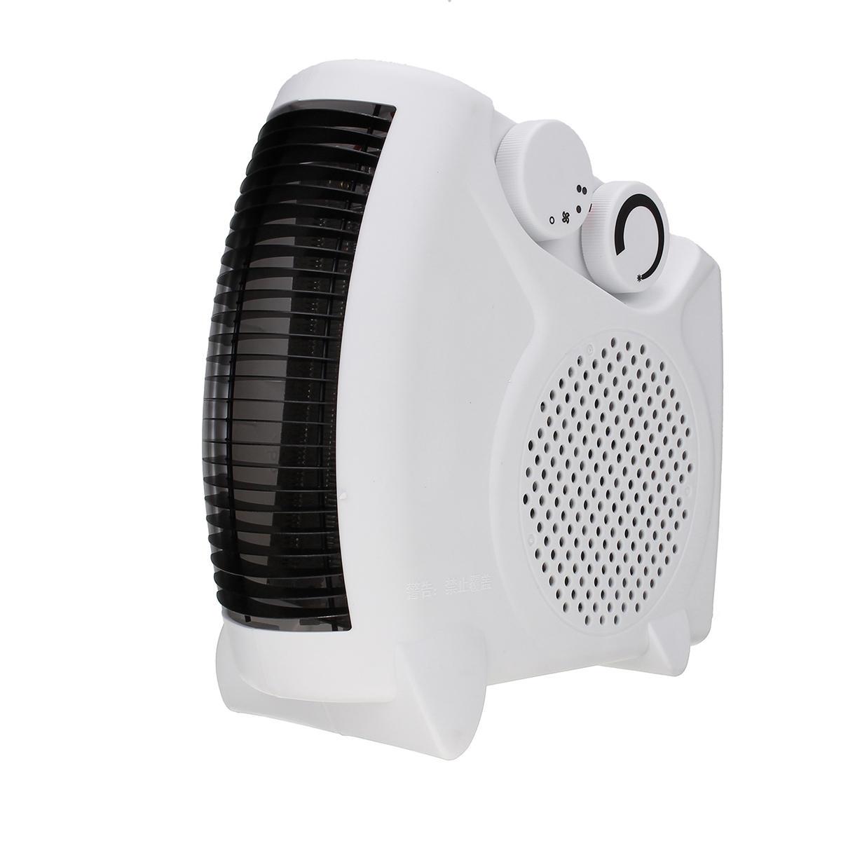 220V 1800W Mini Mute Electric Heater 3 Speeds Heat Cool Dual-Use Fan Portable Home Office Desktop Warmer