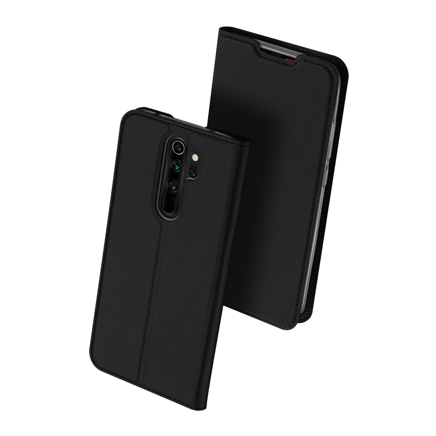 DUX DUCIS Flip Magnetic with Wallet Card Slot PU Leather Protective Case for Xiaomi Redmi Note 8 Pro