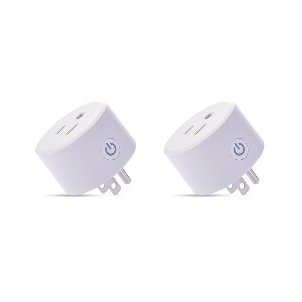 2pcs DoHome Mini US Smart WIFI Socket Timer Plug Works with HomeKit Technology (iOS12 or +) Alexa Google Assistant, No Hub Required, Only Support 2.4GHz WiFi Network