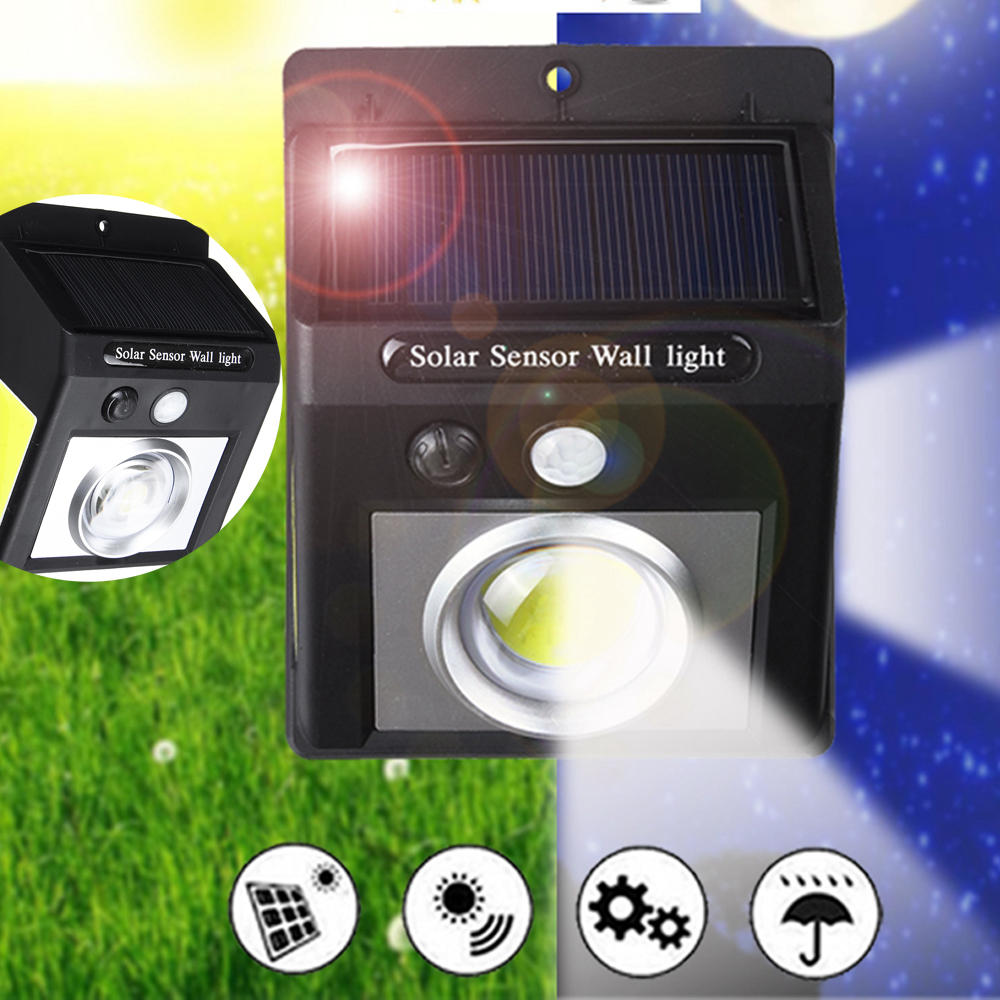 37 COB LED Solar Light PIR Motion Sensor Security Outdoor Gardern Wall Lamp, Banggood  - buy with discount
