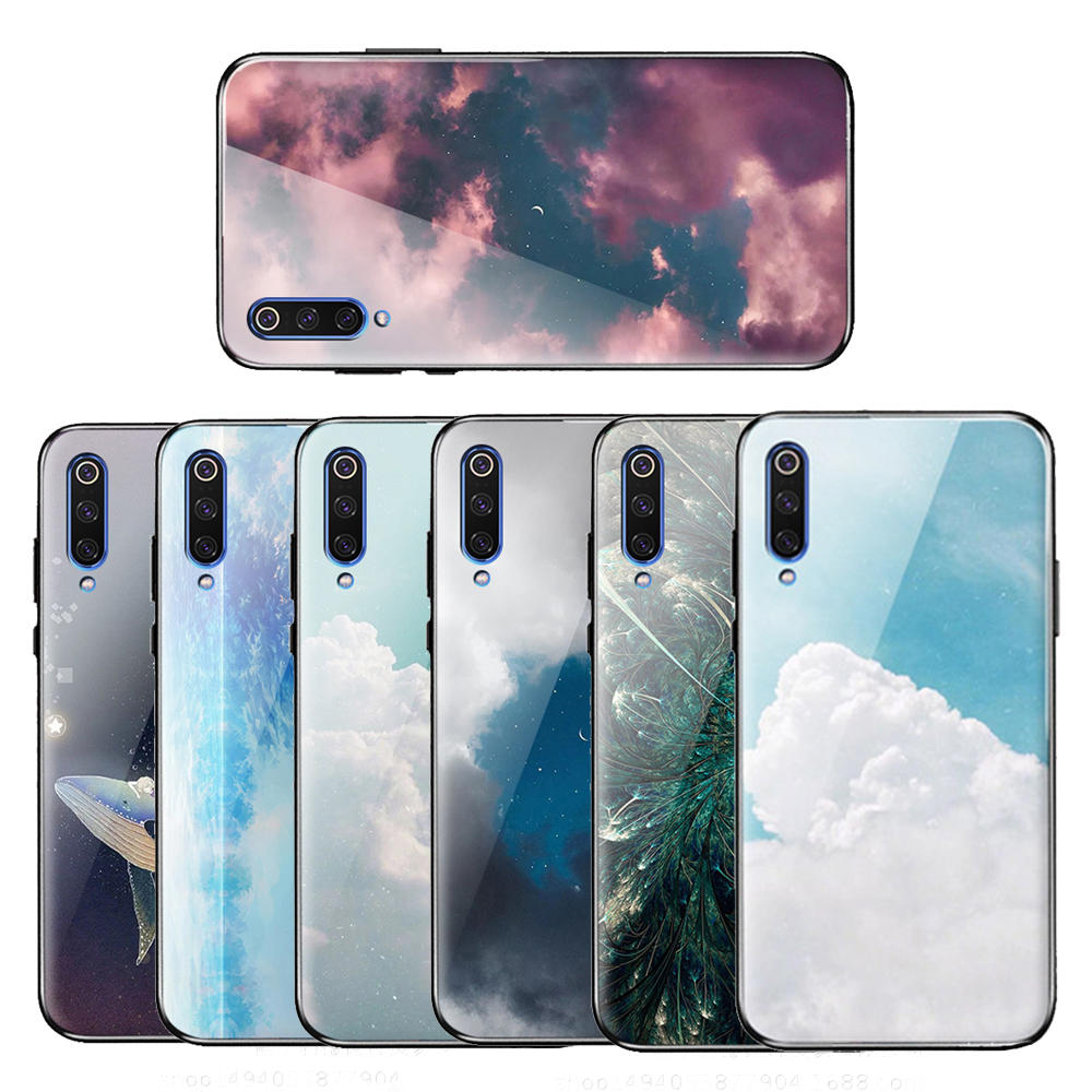 Bakeey Colorful Tempered Glass+Soft TPU Protective Case for Xiaomi Mi 9 / Xiaomi Mi9 Transparent Edition
