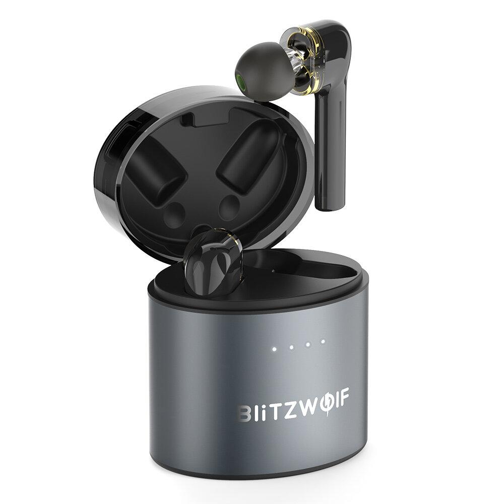 BlitzWolf® BW-FYE8 TWS bluetooth 5.0 Earphone QCC3020 Graphene Dual Dynamic Driver Kontrol Sentuh Headphone Hands-free