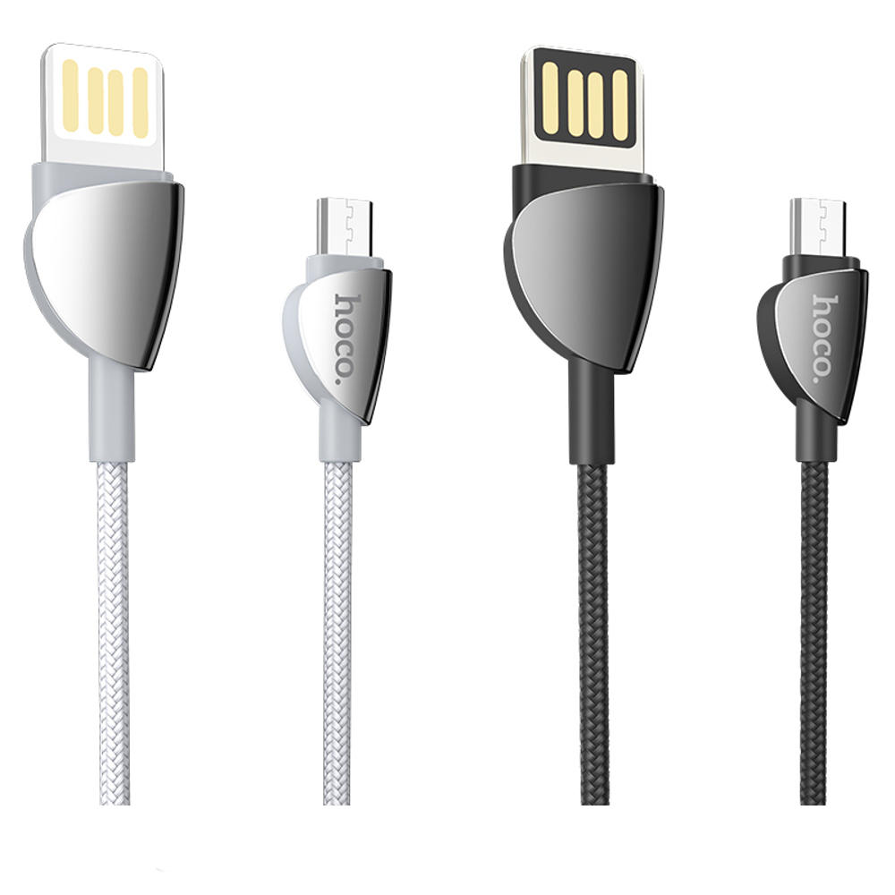 HOCO U62 Micro USB Data Sync Charging Cable for Tablet Smartphone 1.2M