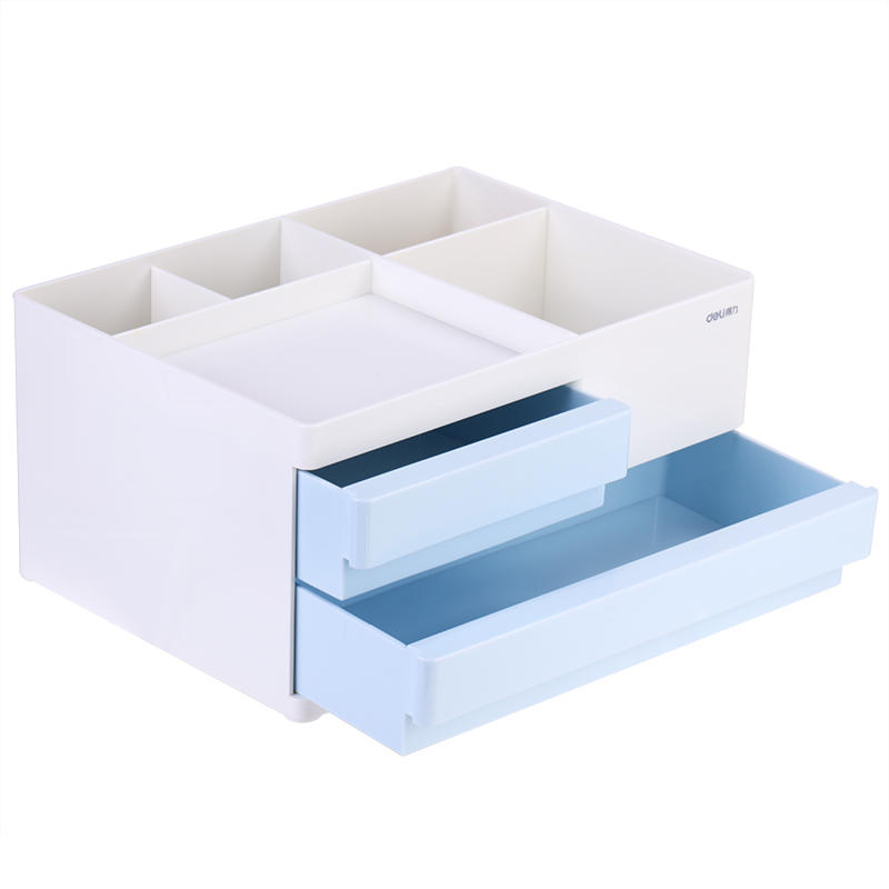 XIAOMI Ecosystem Deli Desktop Storage Box Cosmetic Makeup Case 2/4 Grids Drawers Office Desk Accessories Organizer Pen Pencil Holder 8904/8905