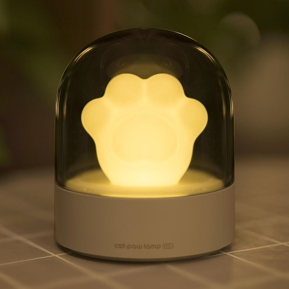 3Life 006 Creative Cat Paw Musical Night Light USB Charging LED Night Light Built In Music Player Remote Control Bedroom фото