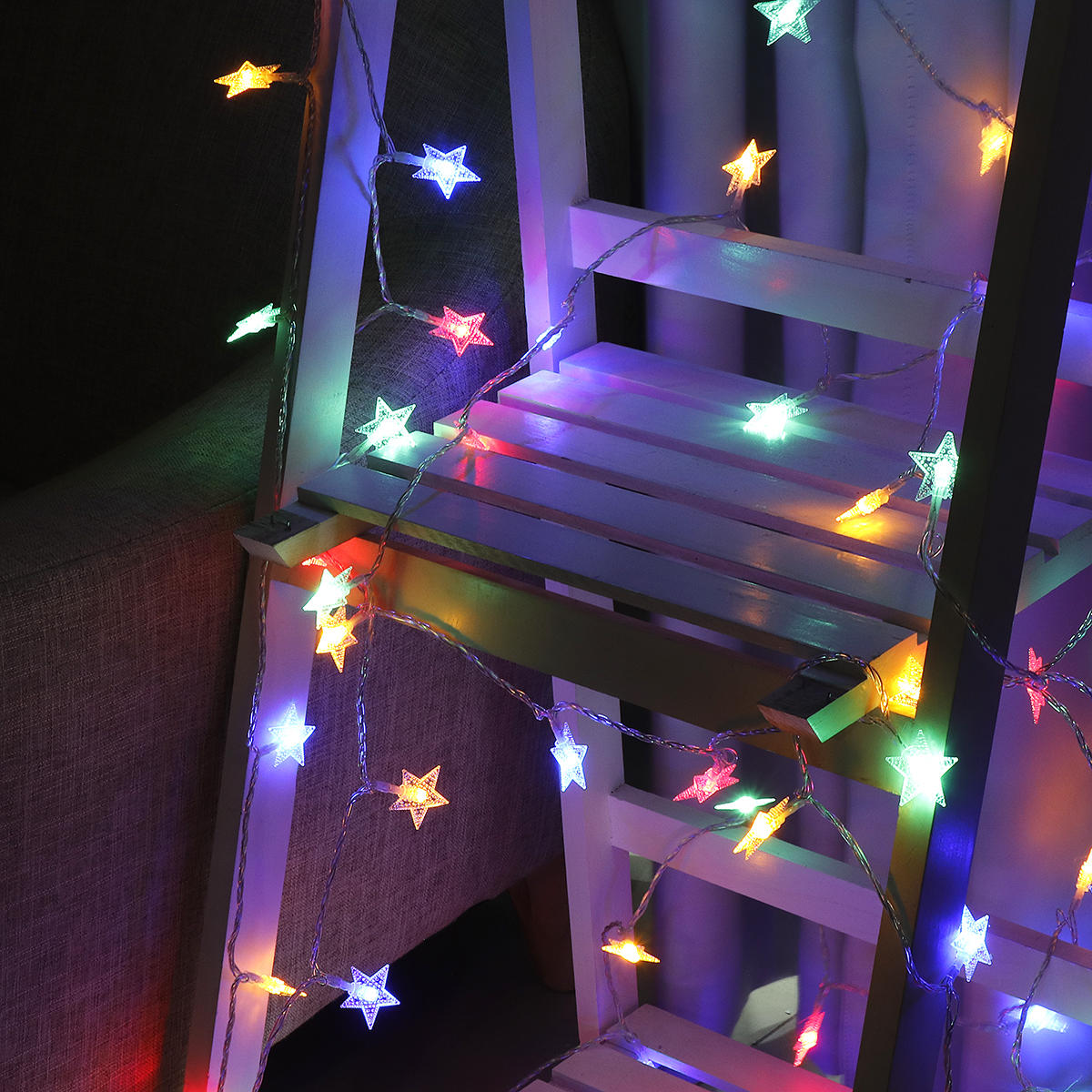 8M 80LED Star Fairy String Light USB Lantern Festival Outdoor Waterproof Decoration