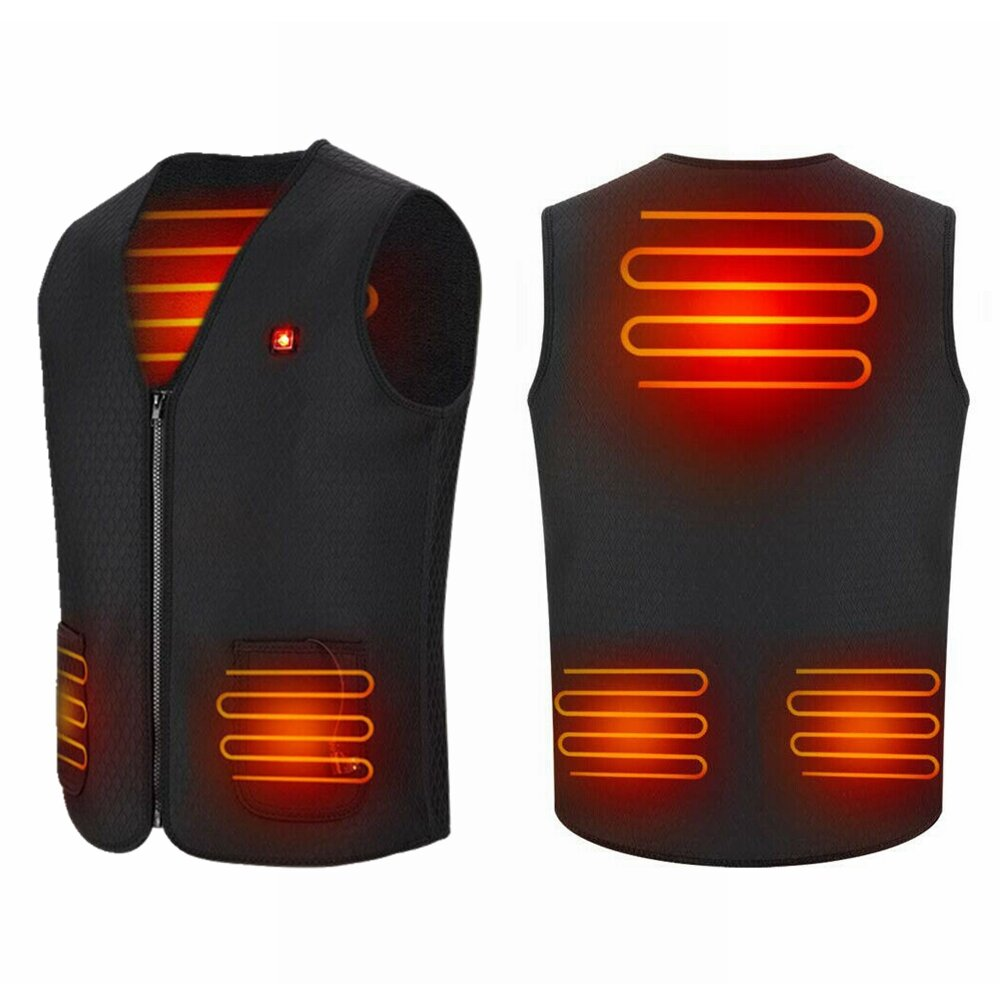 Electric Vest Heated Jacket USB Warm Shoulder Back Waist Abdomen Up Heating Pad Winter Body Warmer Cloth