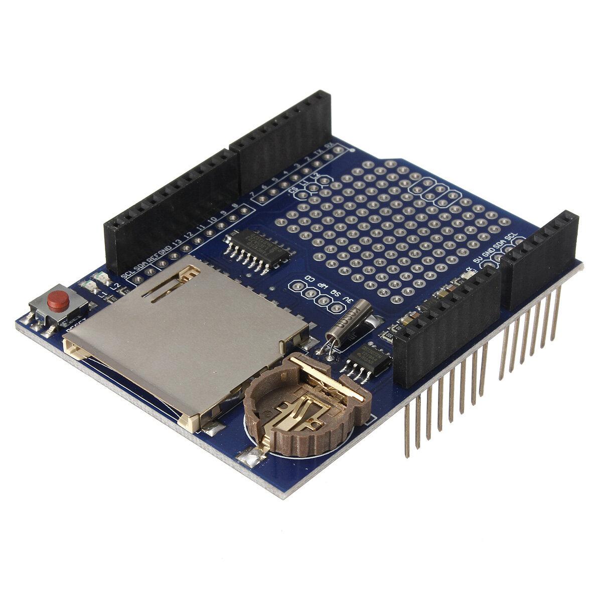 Logging Recorder DataLog Shield Data Logger Module For UNO SD Card Geekcreit for Arduino - products that work with official Arduino boards