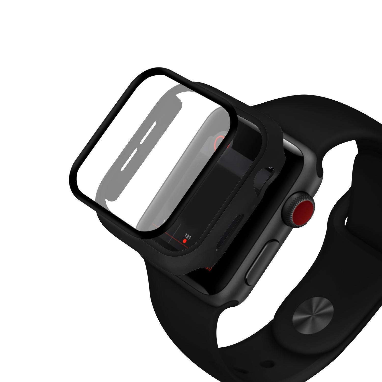 Enkay Full Body PC Чехол для часов + Закаленное стекло Защитная пленка для часов для Apple Watch Series 5 44mm / Apple W фото