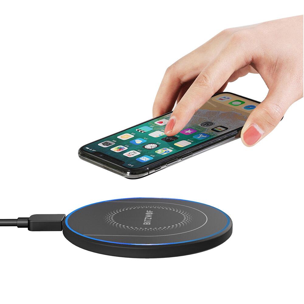 BlitzWolf® BW-FWC7 Qi Charger Nirkabel Cepat 15W 10W 7.5W 5W untuk iPhone 11 Pro XS MAX XR S9 Catatan 9