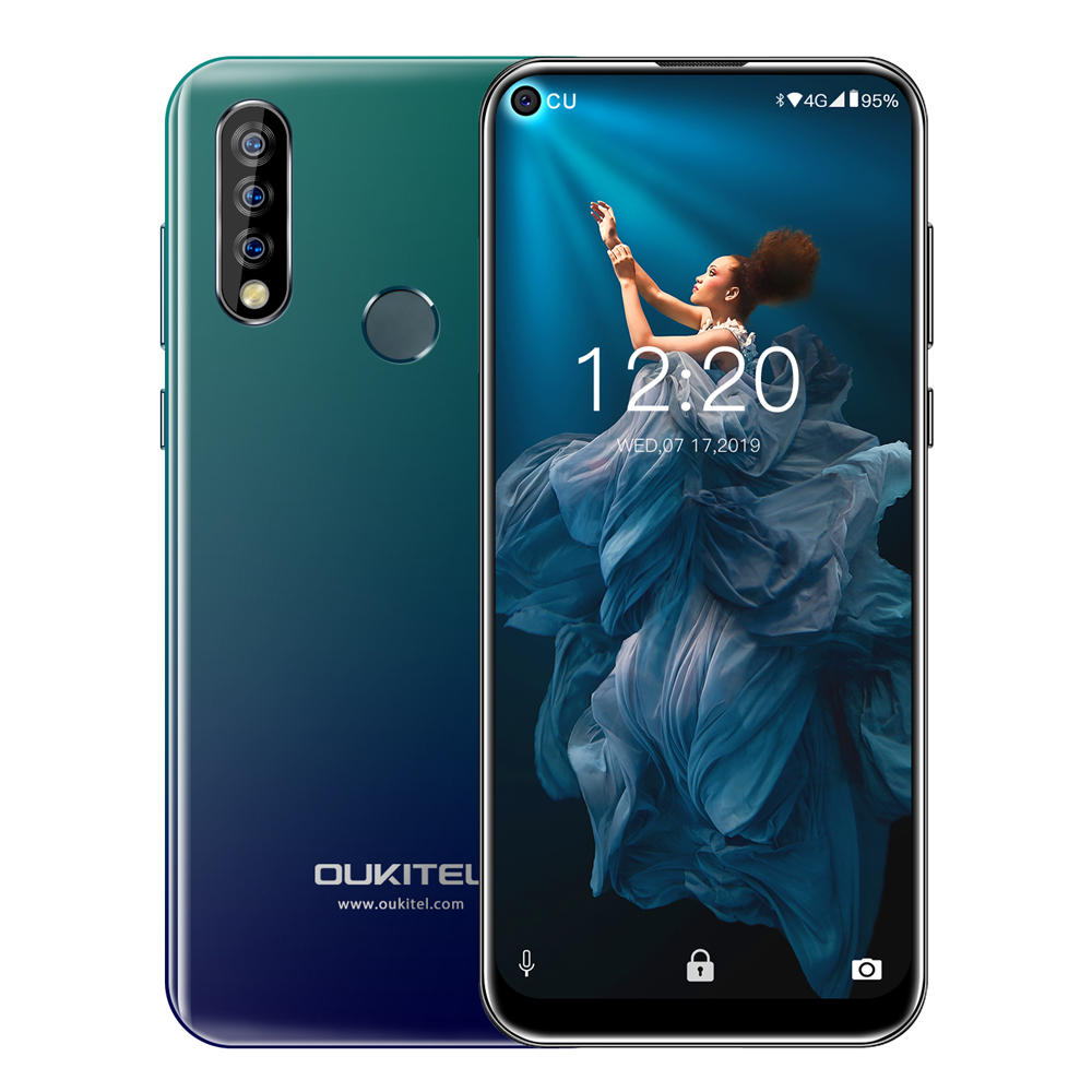 Oukitel C17 Pro 6.35 inch Full Screen 3900mAh Triple Rear Camera Android 9.0 4GB 64GB MTK676 Octa Core 4G Smartphone