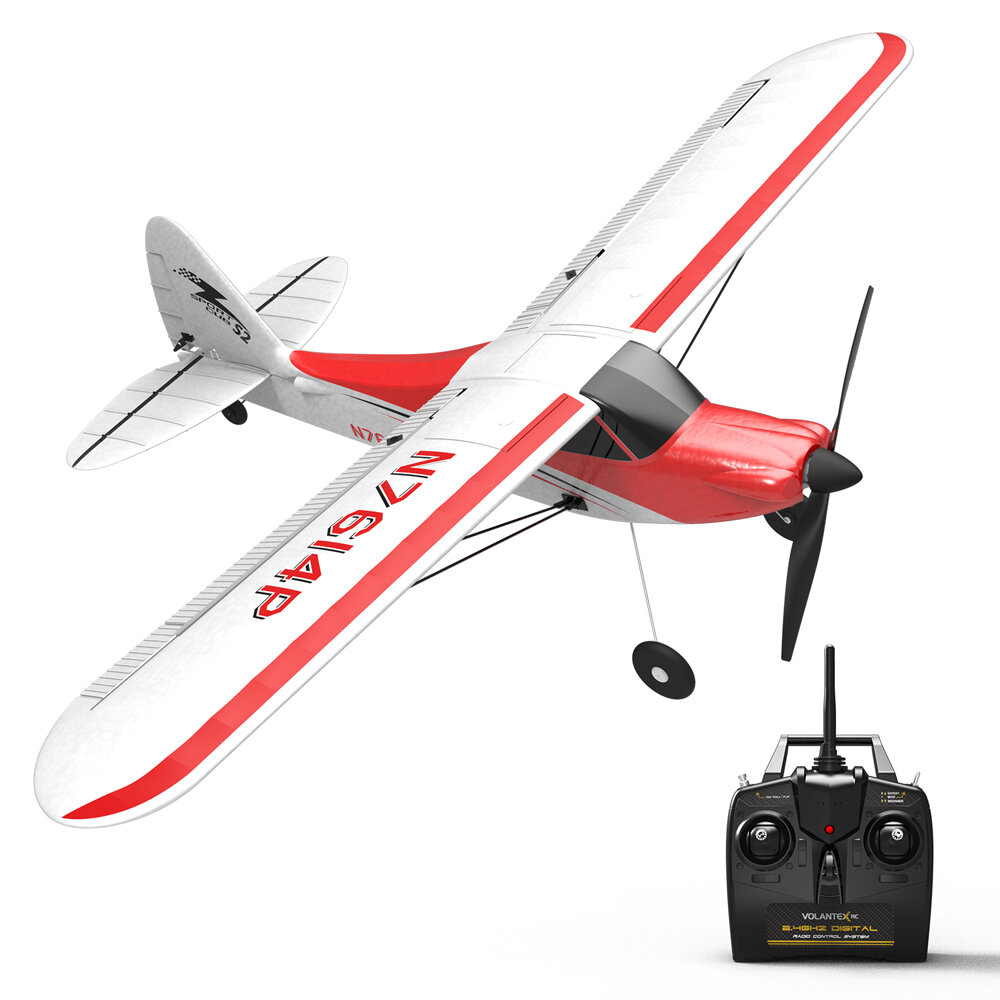 Volantex Sport Cub 500 761-4 500mm Wingspan 4CH One-Key Aerobatic Beginner Trainer RC Glider Airplane RTF Built In 6-Axi
