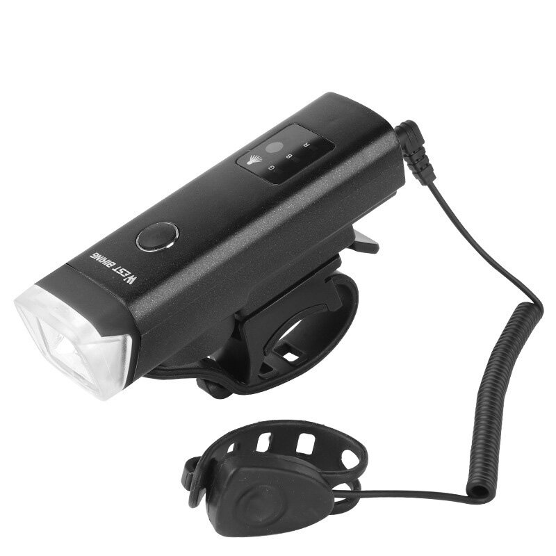 XANES® XL40 2 In 1 650 LM Bike Front Light With 120dB Horn USB Rechargeable 5 Modes Waterproof Warning Night Light Bike Headlight