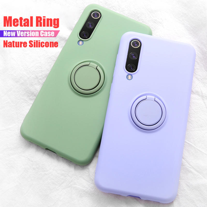 Bakeey Metal Ring Holder Shockproof Soft Silicone Protective Case For Xiaomi Mi 9 / Xiaomi Mi9 Mi 9 Transparent Edition фото