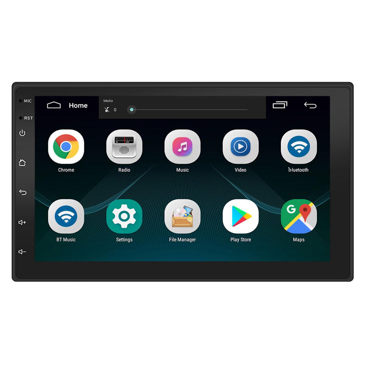 7 Inch 2 Din cho Android 8.1 Radio Radio Auto Auto MP5 Máy nghe nhạc MP3 Bốn nhân 1 + 16G GPS Màn hình cảm ứng bluetooth Wifi FM