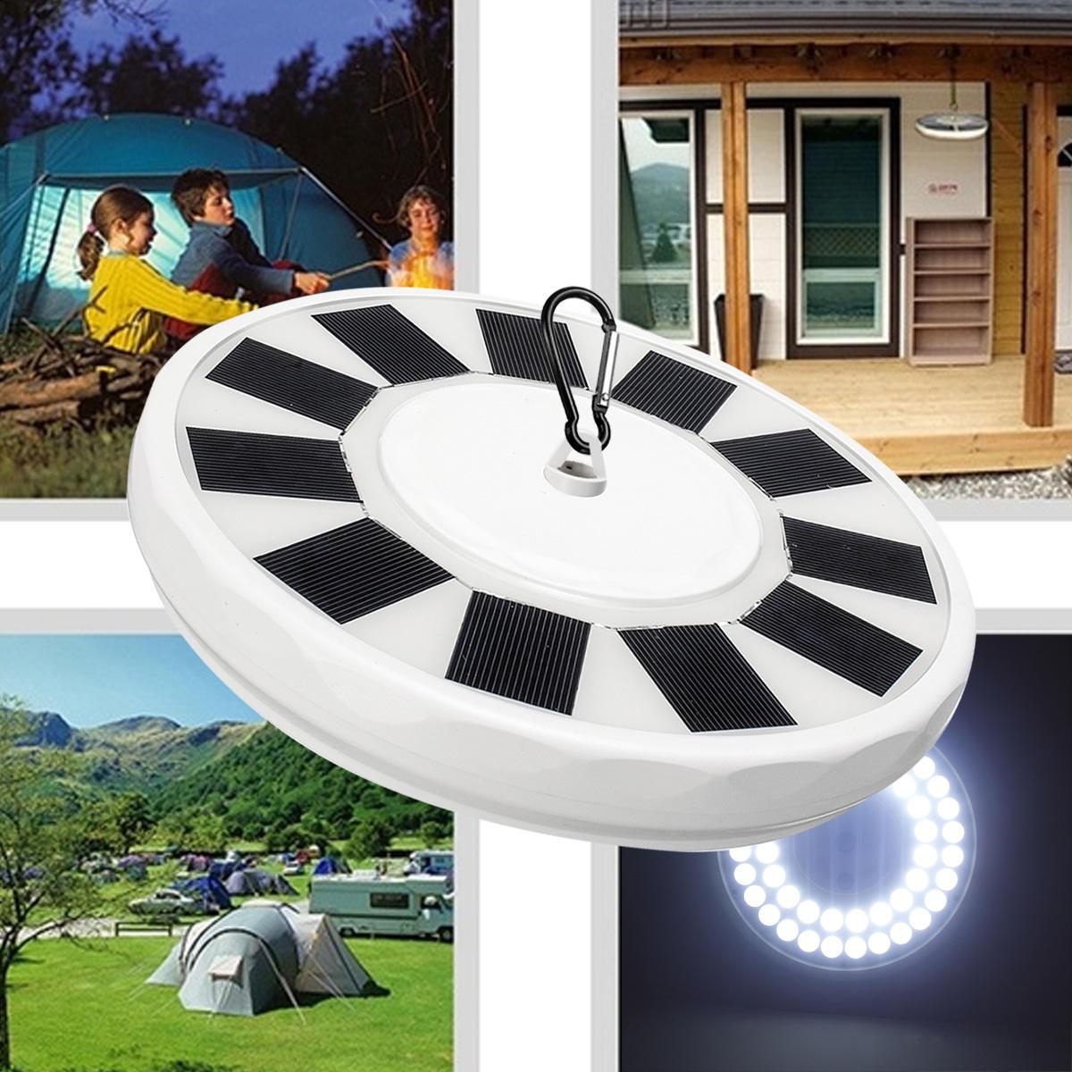 32/48 LED Solar Flag Pole Light Super Bright Night Light Camping Yard Garden