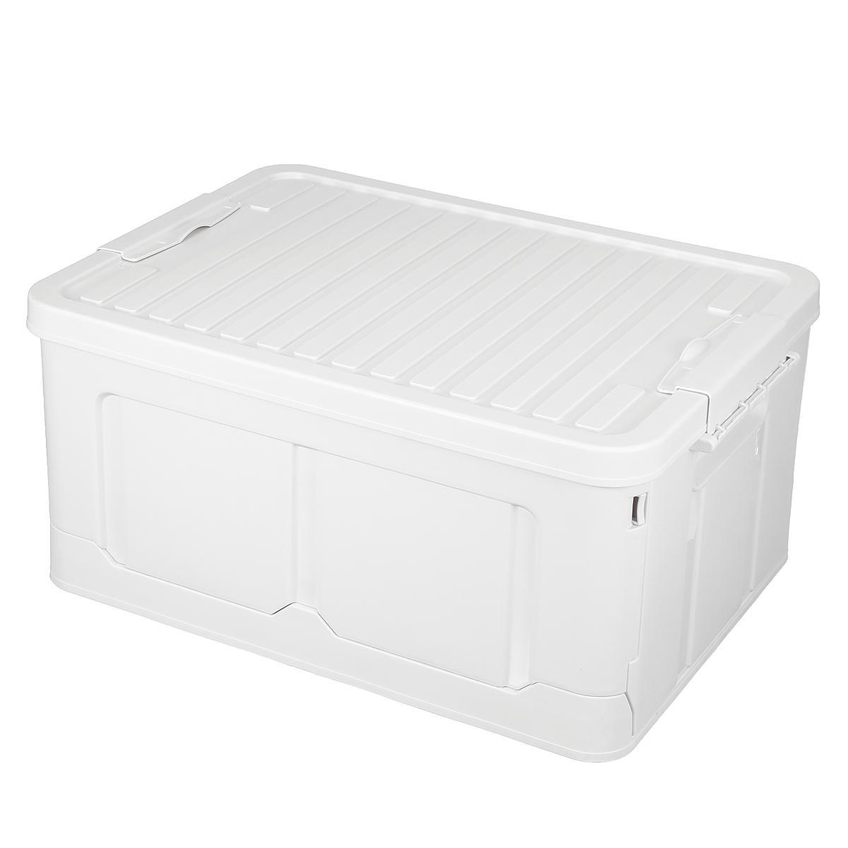 Outdoor 25L Plastic Folding Car Trunk Storage Box Travel Organizer Holder Interior Big Capacity Bag