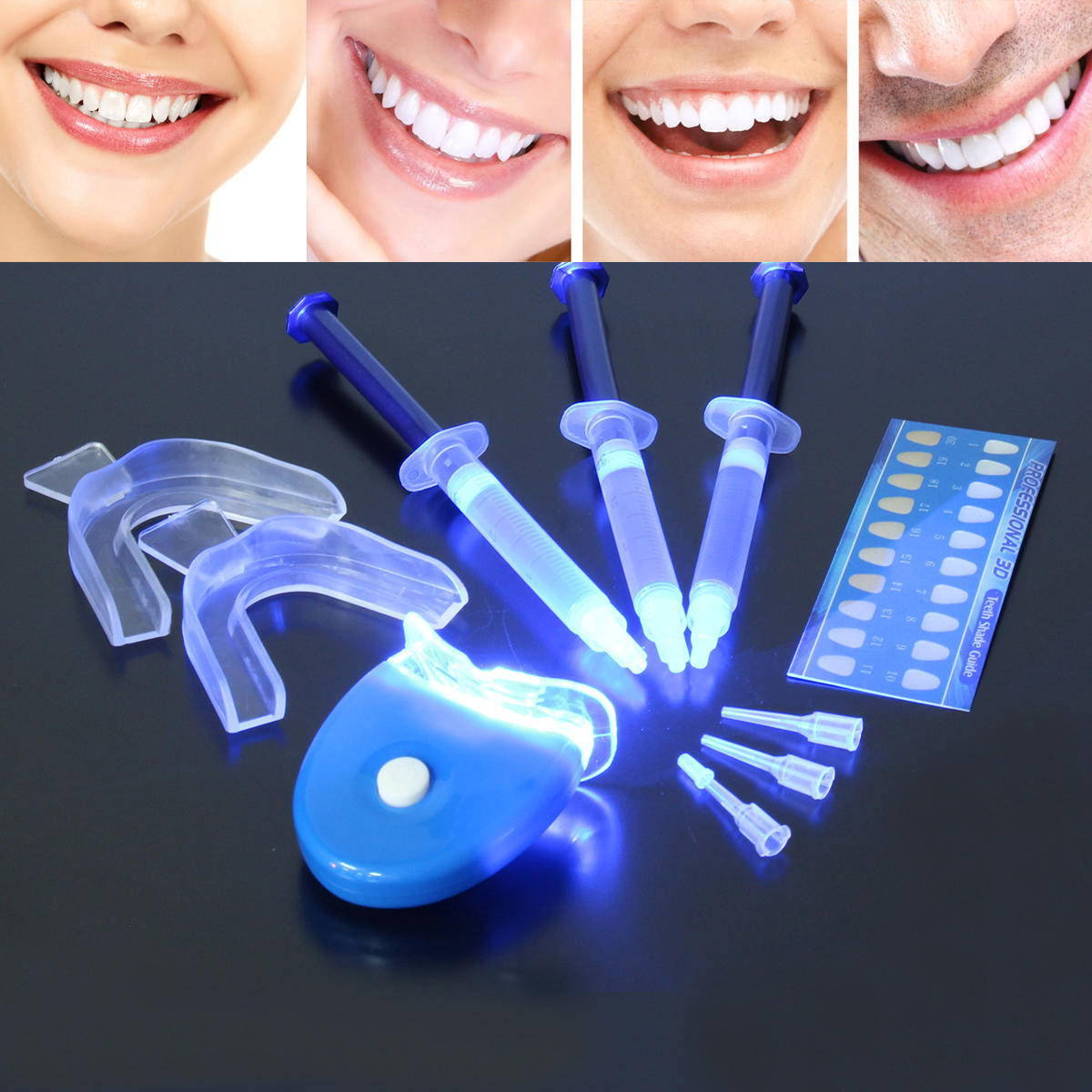 Dental Teeth Whitening Kit Carbamide Peroxide Bleaching System