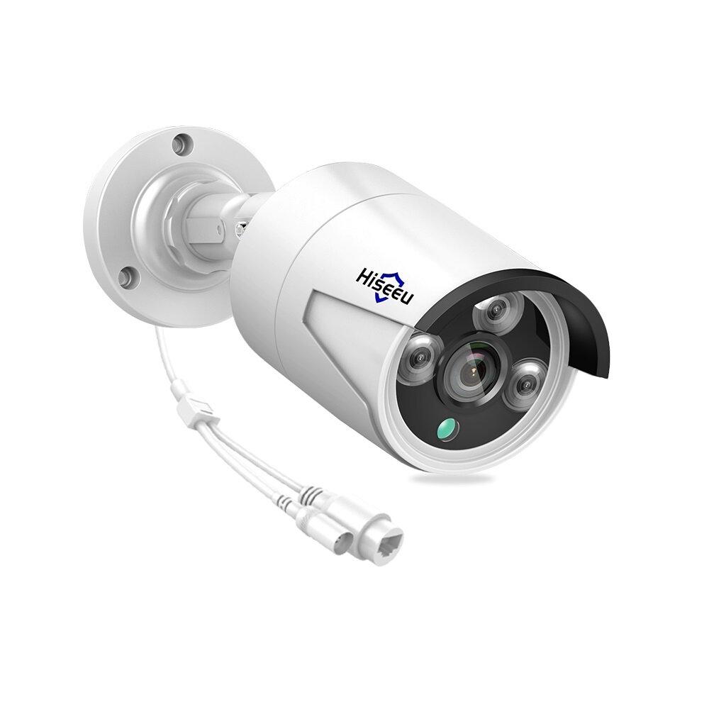 Hiseeu HB612 1080P 2.0MP POE Mini IP Cámara de Visión Nocutrna IR CUT ONVIF P2P IP66 Impermeable al Aire Libre