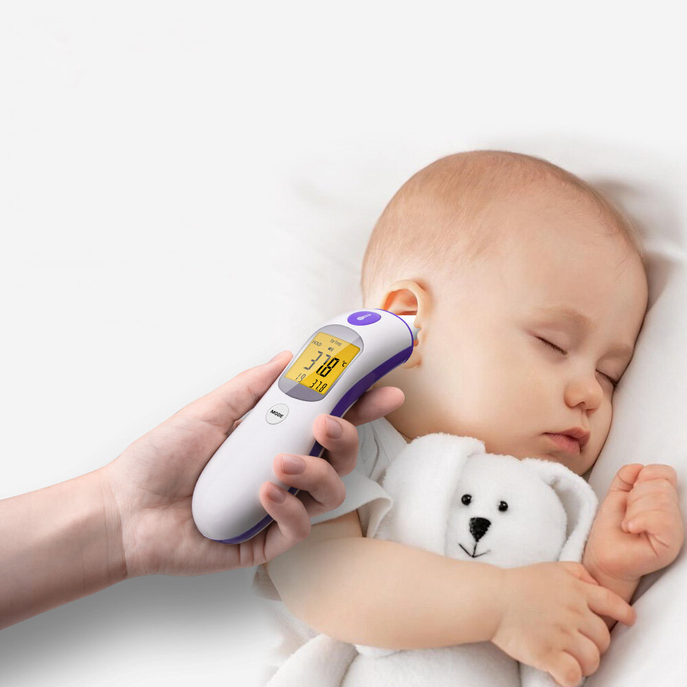 ANENG AN202 Digital Thermometer For Baby Adult Non-Contact Infrared Baby Forehead Ear LCD Electric Thermometer for Body