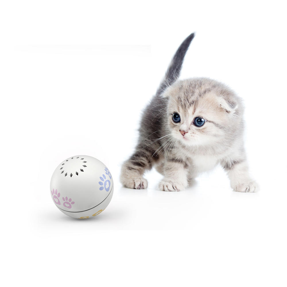 PETONEER PBL010 Smart USB Charging Electric Cat Companion Ball Cat Toy Built-In Catnip Box Irregular Scrolling Funny Cat Artifact Smart Pet Toys