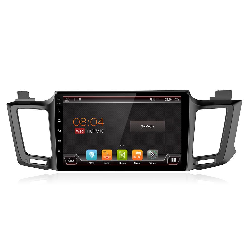 ユエフ 10.1 Inch 2 DIN ために Android 8.0 Car Stereo 2 + 32G Quad Core MP5 Player GPS WIFI 4G FM AM RDS Radio ために トヨタRAV4 2013-2017