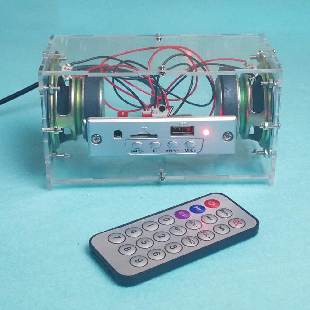 DIY 3W Mini Bluetooth Speaker Kit MP3 Music Power Amplifier Audio Electronic Production Kit