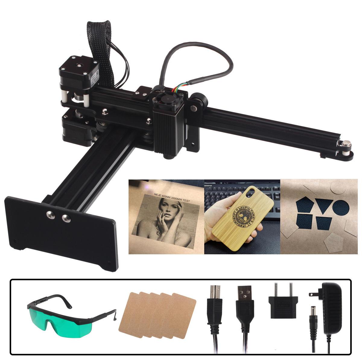 NEJE MASTER 3500mW DIY लेजर उत्कीर्णन मशीन प्रिंटर प्रिंट लोगो चित्र लेजर उत्कीर्णन मशीन