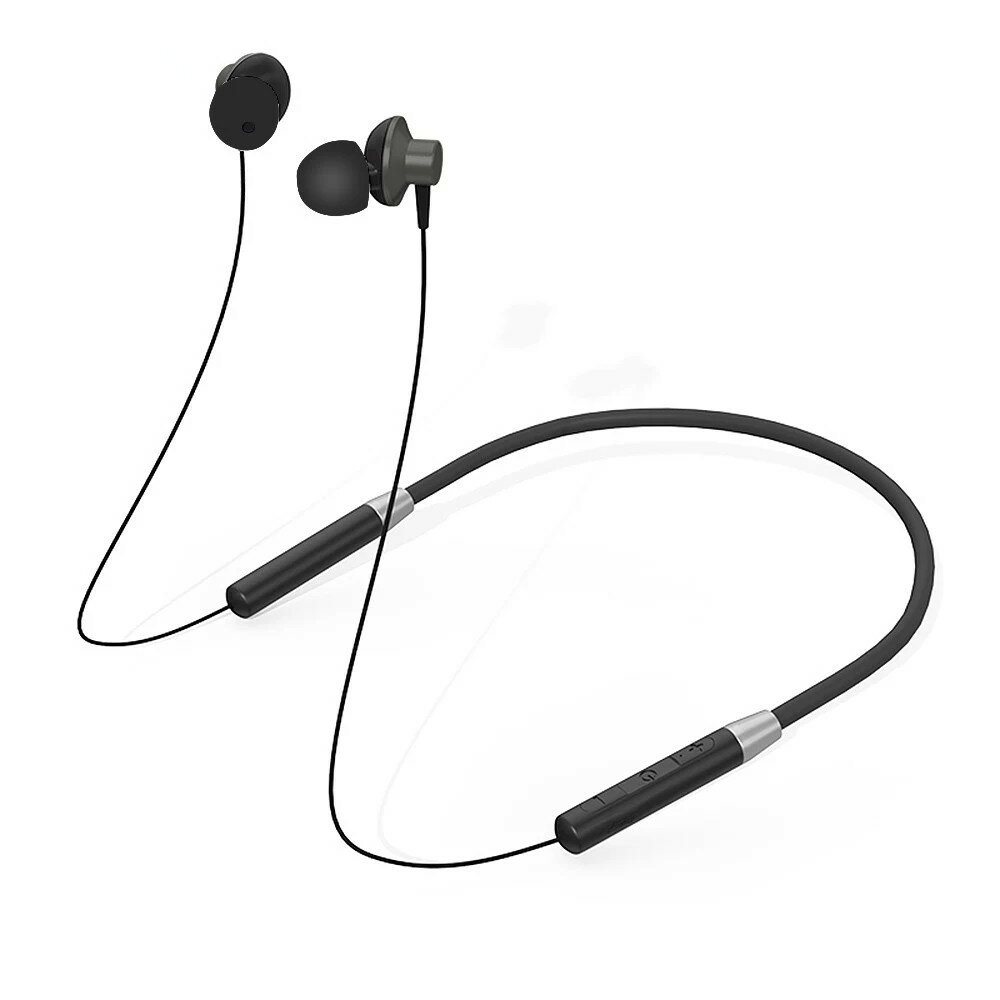 Lenovo bluetooth Magnetic Neckband Headphone IPX5 Waterproof Wireless Sport Earphone Kebisingan Membatalkan Headset dengan Mic