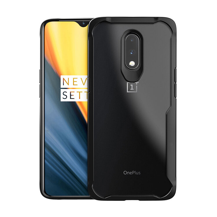 For OnePlus 7 Case Bakeey Armor Shockproof Acrylic Transparent Soft TPU Bumper Edge Protective Case