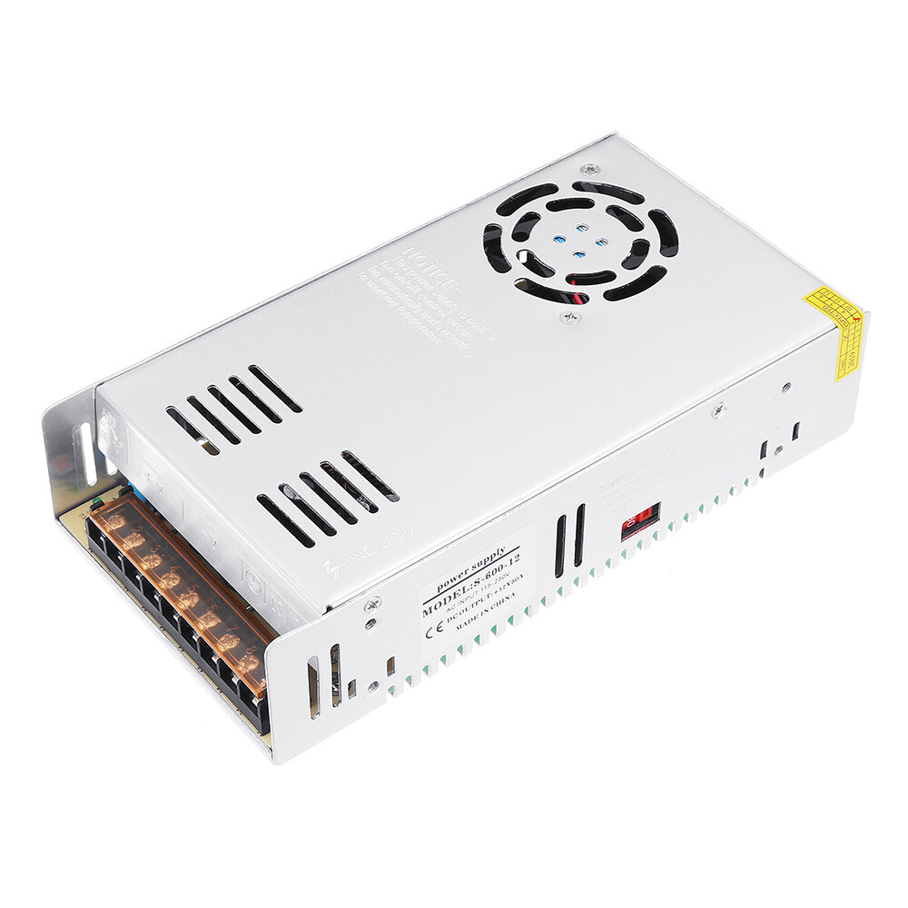 Excellway® AC 115-230V to DC 12V 50A 600W Switching Power Supply Driver For LED Strip Light