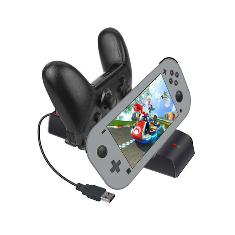 Dayanıklı Type-C Şarj Dock İstasyonu Nintendo Anahtarı Lite için Veri Kablosu ile Standı / NS Pro Oyun Konsolu Denetleyicisi