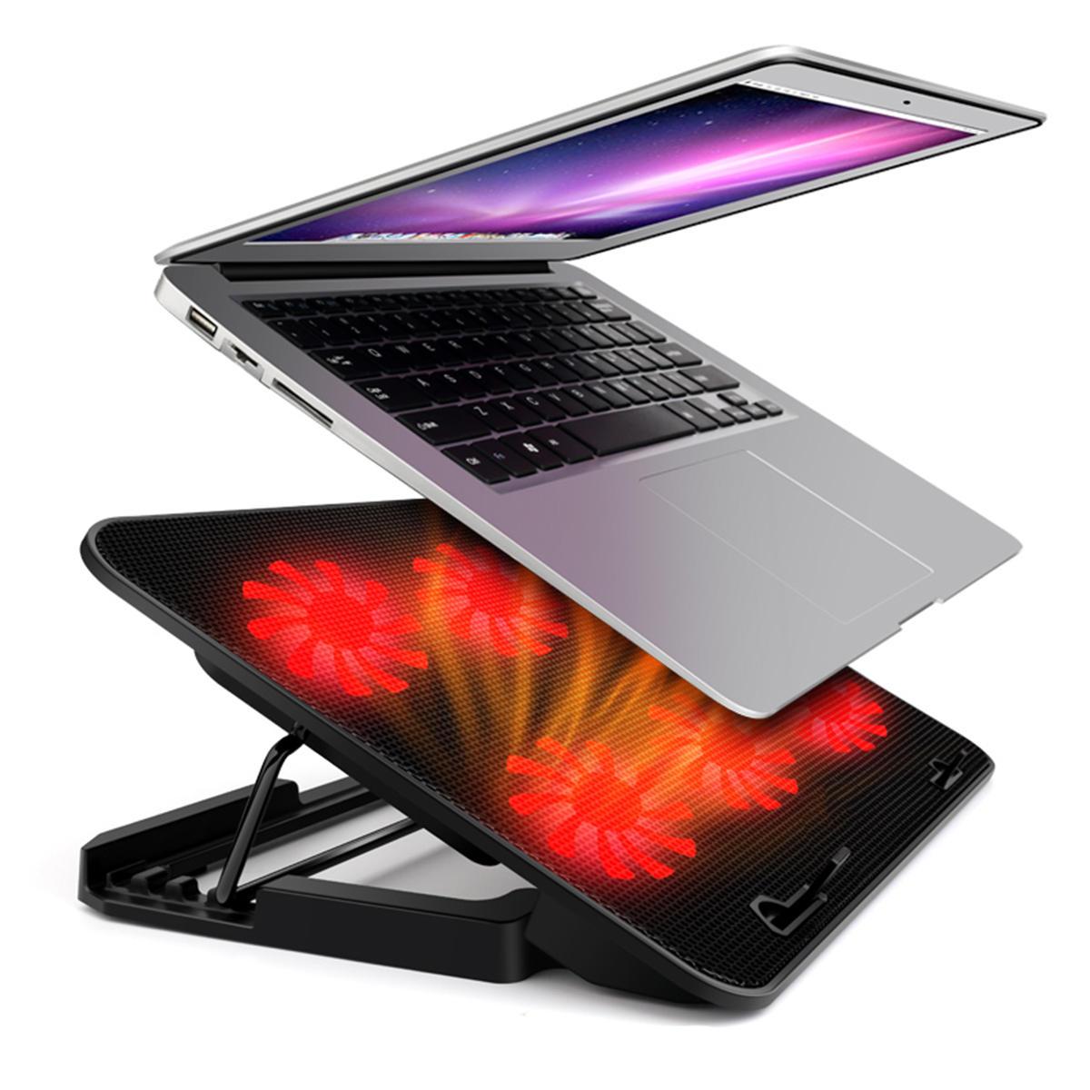 Универсальный кулер для ноутбука 2 порта USB и Six Fan охлаждающий блок охлаждения ноутбука Подставка для ноутбука для 1 фото