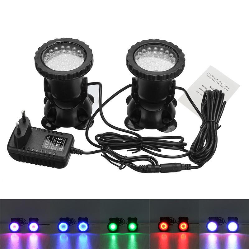 LED Impermeável Colorful Spot Light Aquarium Fish Tank Underwater Piscina Light AC100-240V