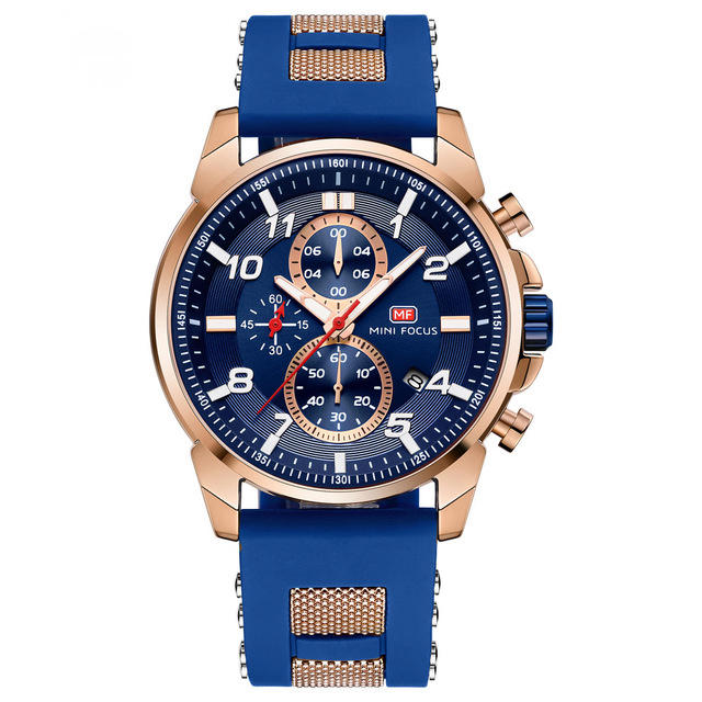 MINI FOCUS MF0268G Multi-function Chronograph Luminous Military Sports Men Watch Quartz Watch