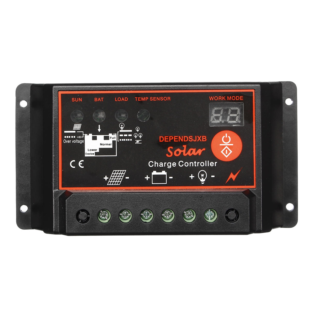 10A/20A/30A/40A/50A/60A 12/24V Auto PWM Digital Solar Charge Controller Battery Charger Solar Panel Regulator Dual USB LCD Display