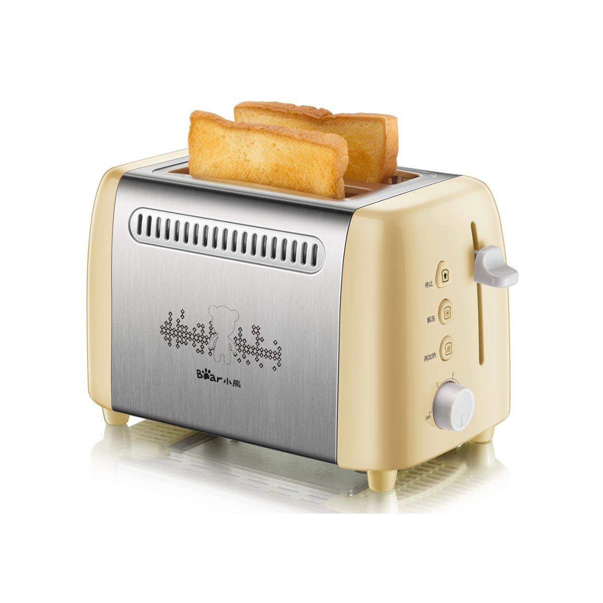 Bear DSL-A02W1 Automatic Household Toaster Two pieces of bread Toaster for Breakfast Bread Maker