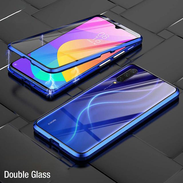 Bakeey 360º Mặt trước + Mặt sau Toàn thân hai mặt 9H Kính cường lực Kim loại Ốp từ hấp phụ cho Xiaomi Mi 9 Mi9 Lite / Xiaomi Mi CC 9