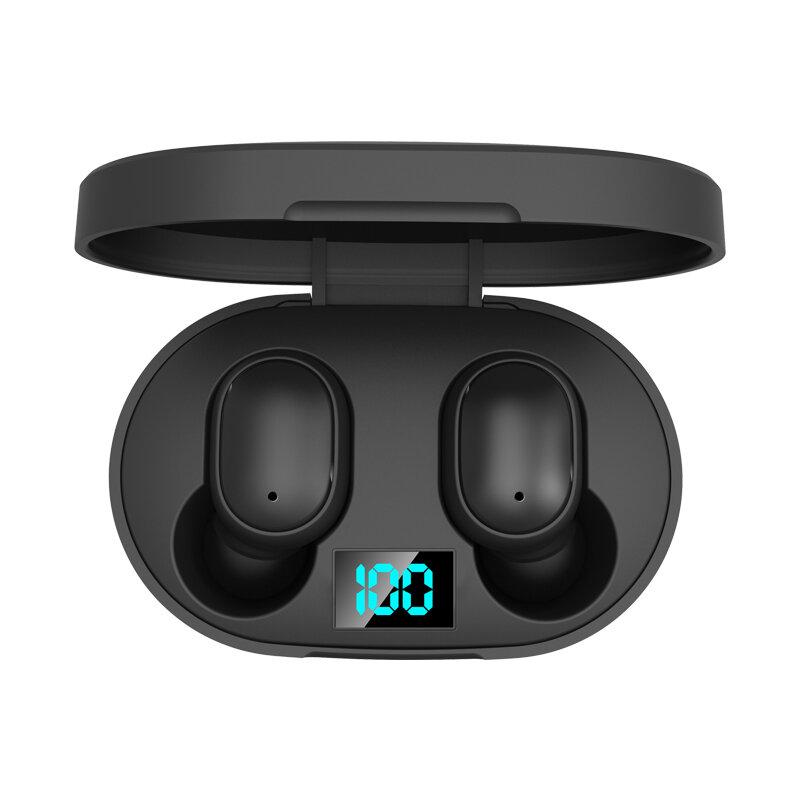 E6S TWS Auricolare Bluetooth 5.0 digitale Display Auricolare In-Ear stereo wireless cuffia con ricarica Scatola per Xiaomi Huawei