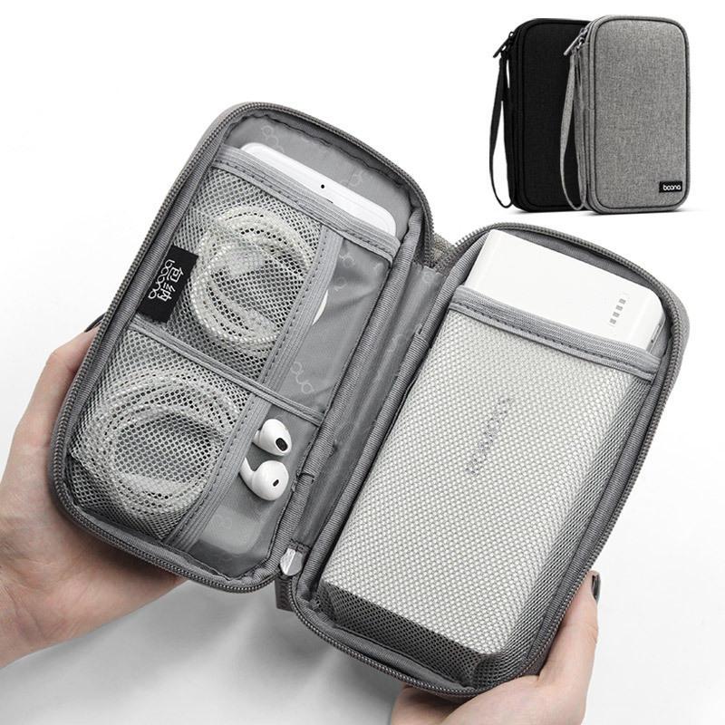 Boona 19 cm * 10,5 cm Accessori digitali a strato singolo Archiviazione Borsa Viaggio Borsa Cavo caricatore USB della banca di alimentazione Organizzatore Borsa